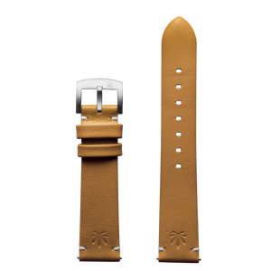 420Waldos Bud Series Tan Strap with Brushed SS Buckle