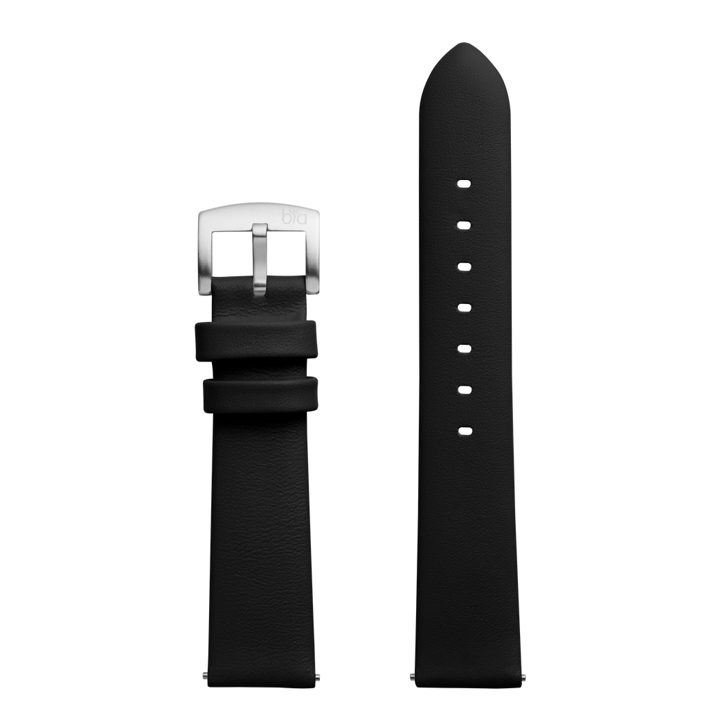 Bia Suffragette Black Leather Strap