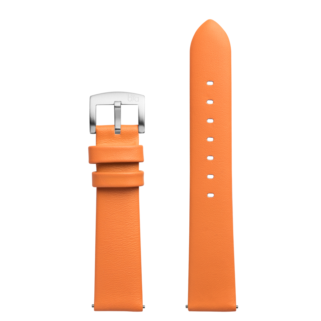 Bia Suffragette Replacement Strap - Orange Leather