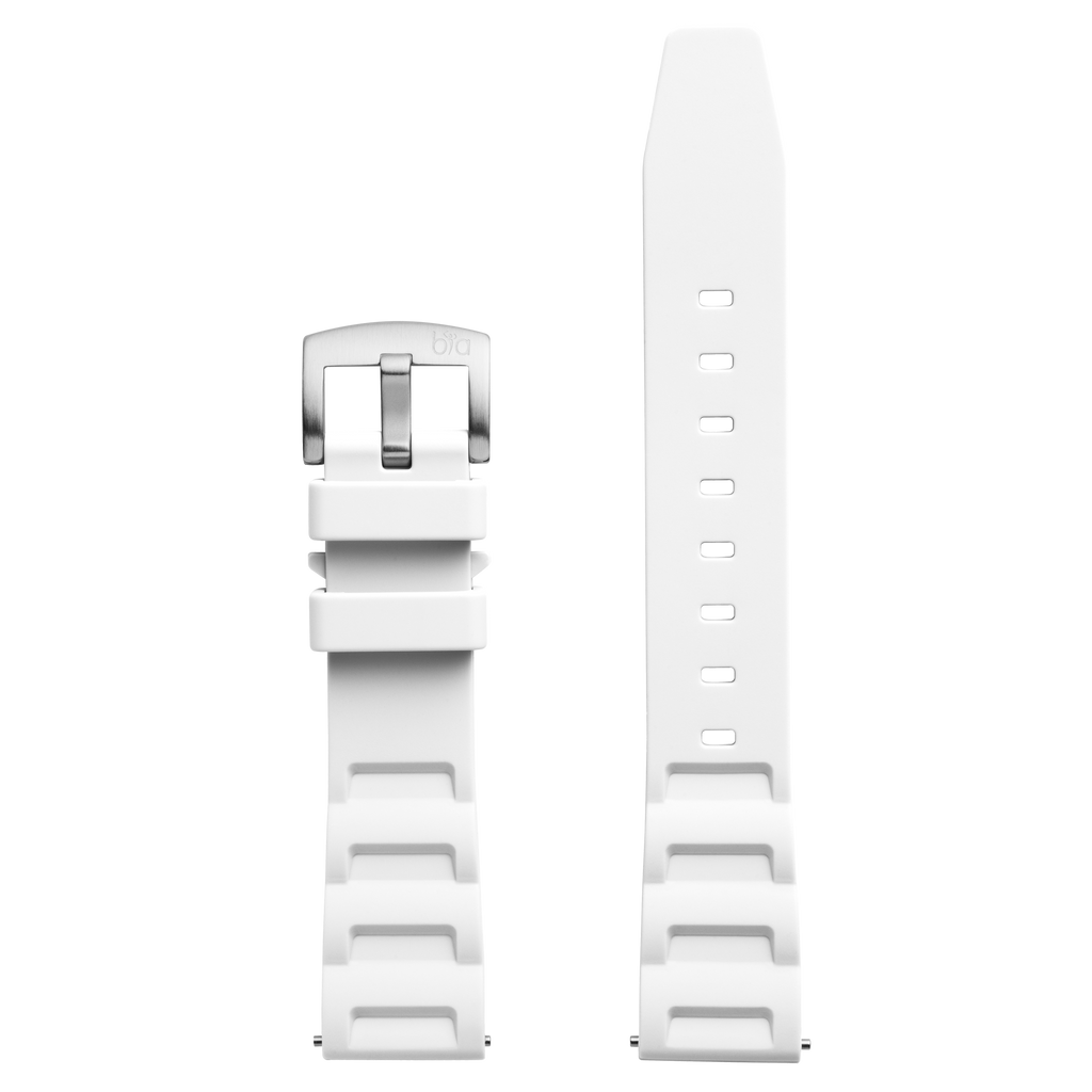 Bia 'Rosie' Dive Replacement Strap - White Silicone