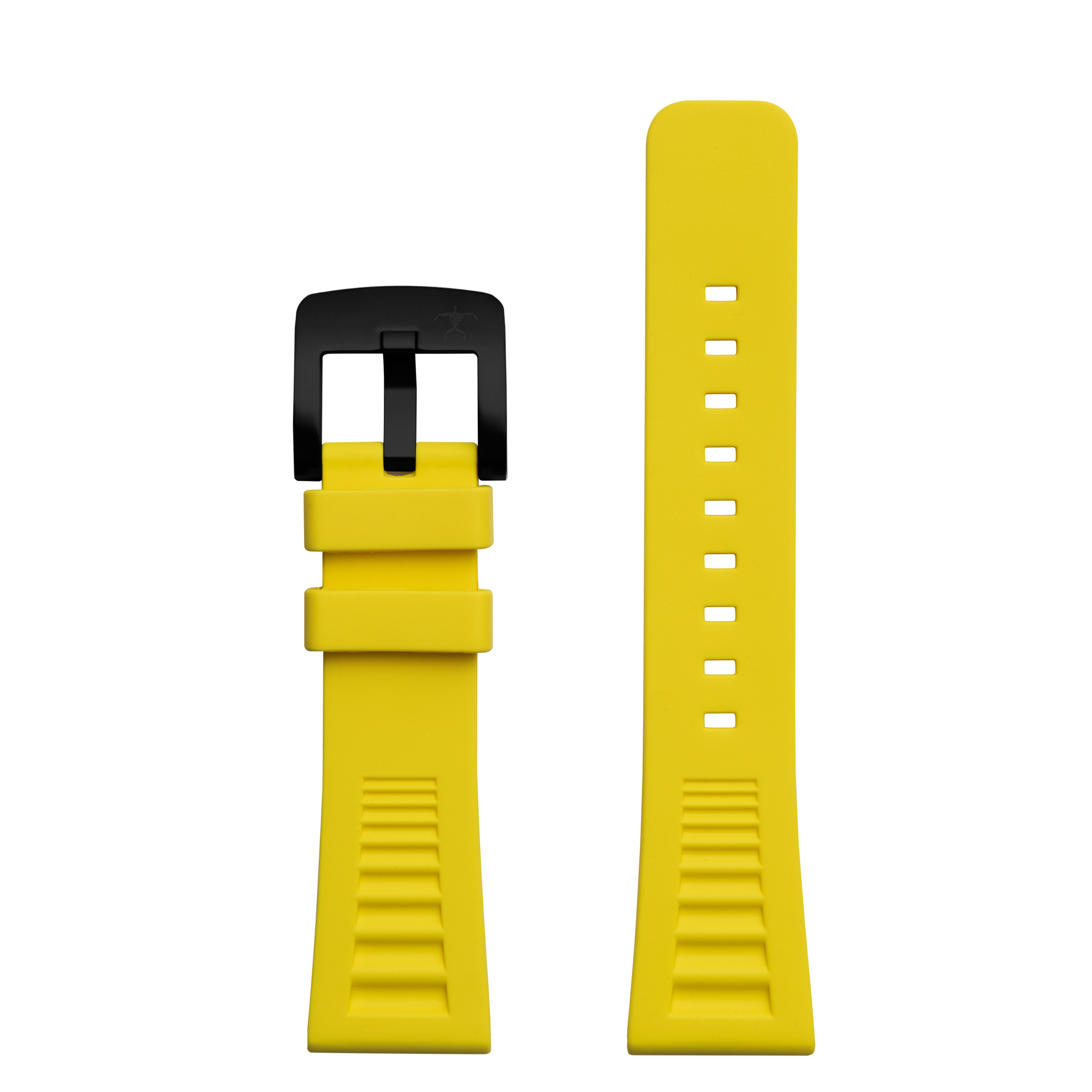 Hawaiian Lifeguard Replacement Strap Yellow/Blk: 24mm Rubber (for 5500 series)