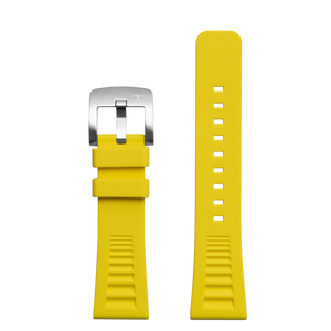 Hawaiian Lifeguard Replacement Strap Yellow/SS: 24mm Rubber (for 5500 series)