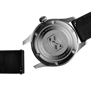 Szanto 20mm Black Leather Strap with Stainless Steel Buckle - 2750 and 4550 Series