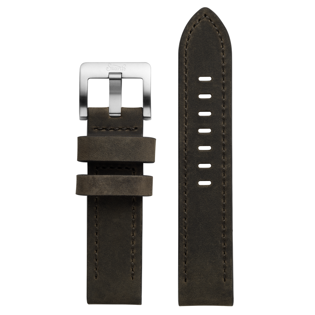 Szanto 22mm Black Leather Strap/Stainless Steel Buckle - 2700 Series