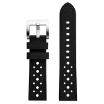 Szanto 22mm Black Leather Strap/Stainless Steel Buckle - 3000 Series