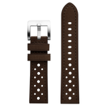 Szanto 22mm Brown Leather Strap/Stainless Steel Buckle - 3000 Series