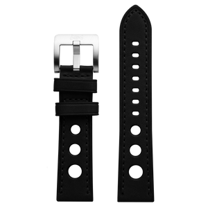 Szanto 22mm Black Leather Strap/Stainless Steel Buckle - 3100 Series