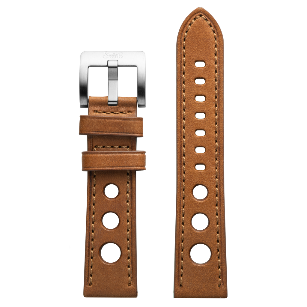 Szanto 22mm Tan Leather Strap/Stainless Steel Buckle - 3100 Series