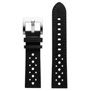 Szanto 22mm Black Leather Strap/Stainless Steel Buckle - ICON 3200 Series