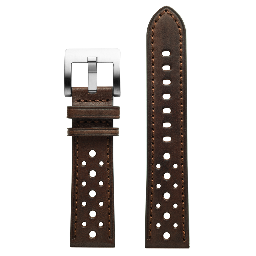 Szanto 22mm Brown Leather Strap/Stainless Steel Buckle - ICON 3200 Series