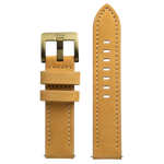 Szanto 22mm Tan Leather Strap/Antique Gold Buckle - 4500 Series
