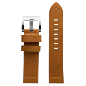 Szanto 22mm Tan Waterproof Leather Strap/Stainless Steel Buckle - 5200 Series