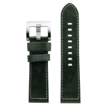 Szanto 24mm Dark Green Leather Strap/Stainless Steel Buckle - 6100 Series
