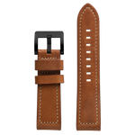 Szanto 24mm Tan Leather Strap/Black Buckle - 6100 Series