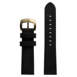 Szanto 22mm Black Leather Strap/Antique Gold Buckle - 7000 Series
