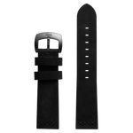 Szanto 22mm Black Leather Strap/Antique Silver Buckle - 7000 Series