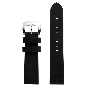 Szanto 22mm Black Leather Strap/Stainless Steel Buckle - 7000 Series