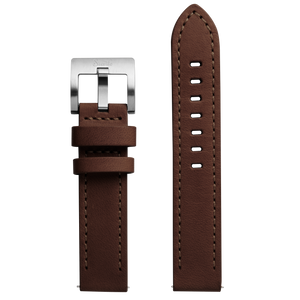 Szanto 20mm Brown Leather Strap with Stainless Steel Buckle - 2750 & 4550 Series