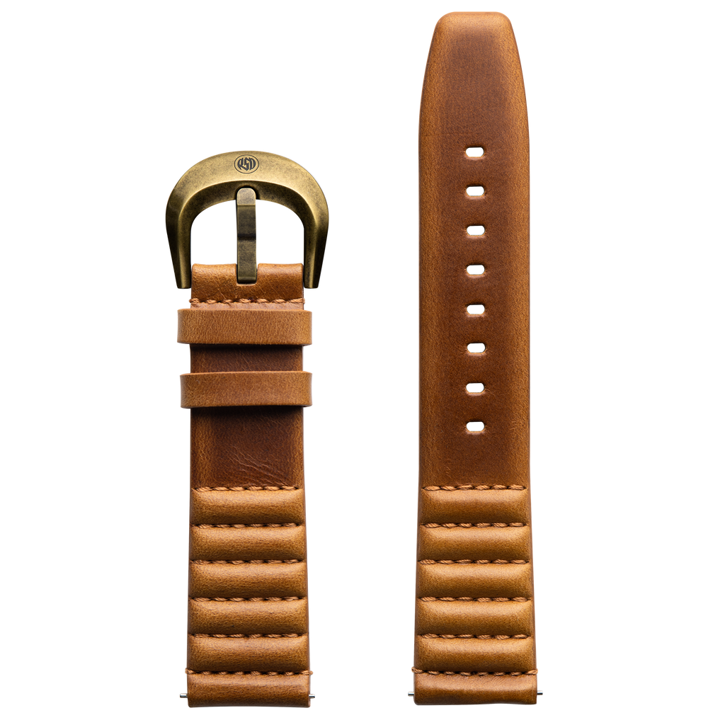 ICON Roland Sands Tan Strap/Antique Gold Buckle