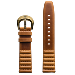 Szanto ICON 22mm Genuine Horween Leather Tan Strap/Antique Gold Buckle - Roland Sands Series