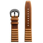 Szanto ICON 22mm Genuine Horween Leather Tan Strap/Gun Gray Buckle - Roland Sands Series