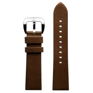 Szanto 22mm Brown Leather Strap/Stainless Buckle - 6200 & 6300 Series
