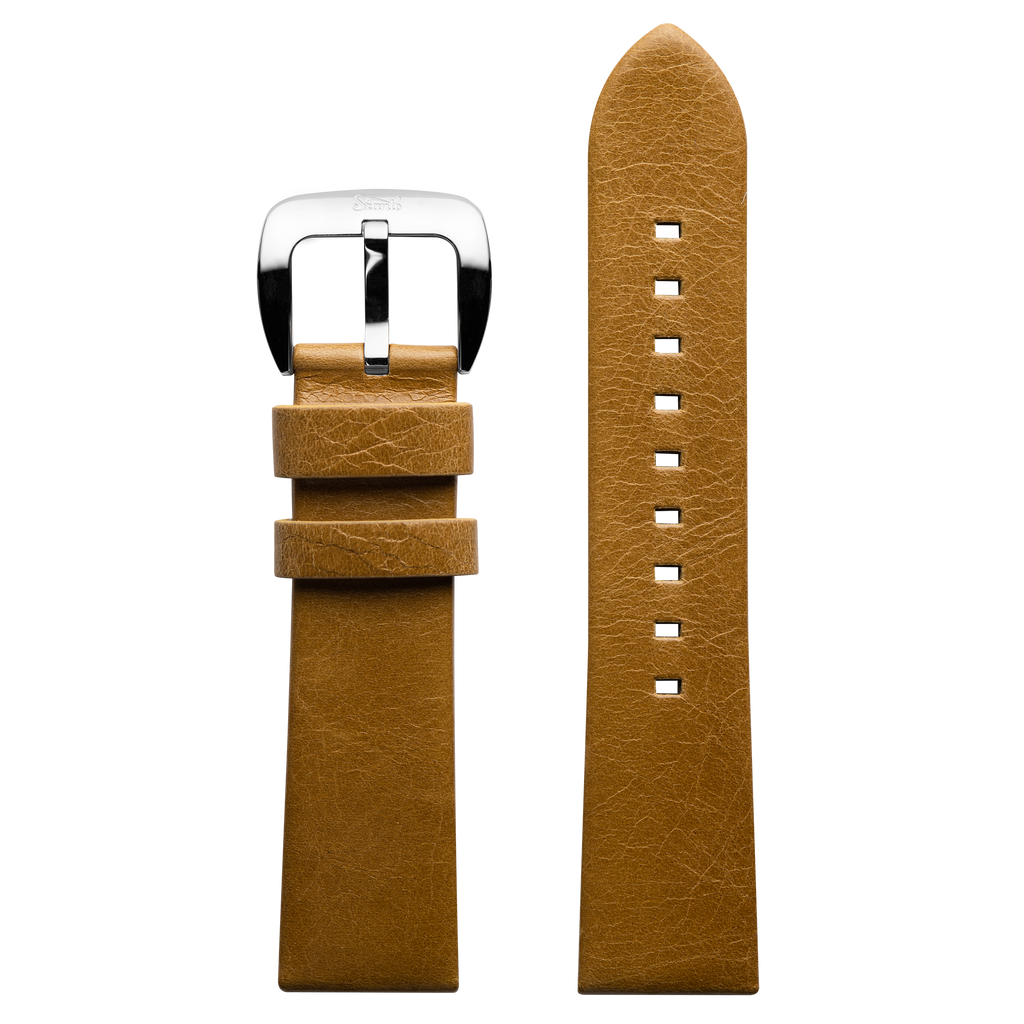 Szanto 22mm Tan Leather Strap/Stainless Buckle - 6200 & 6300 Series