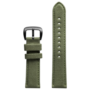 Szanto 22mm Army Green Canvas Strap/Black Buckle - 1000 Series