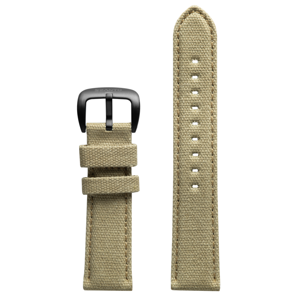 Szanto 22mm Khaki Canvas Strap/Stainless Steel Buckle - 1000 Series