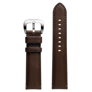 Szanto 22mm Brown Leather Strap/Stainless Steel Buckle - 1120 Series
