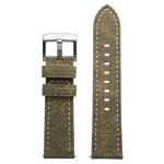 Szanto 24mm Taupe Leather Strap with Cream Stitch/Stainless Steel Buckle - 2600 Series