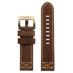 Szanto 24mm Brown Leather Strap/Antique Gold Buckle - 4100 Series