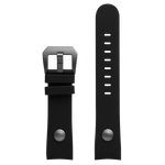 Szanto 22mm Black Silicone Strap/Dark Titanium Buckle - 5000 Series