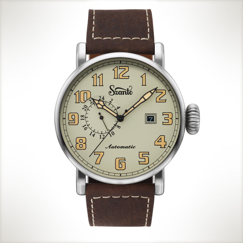 Szanto Automatic Big Aviator 6103, vintage style watch