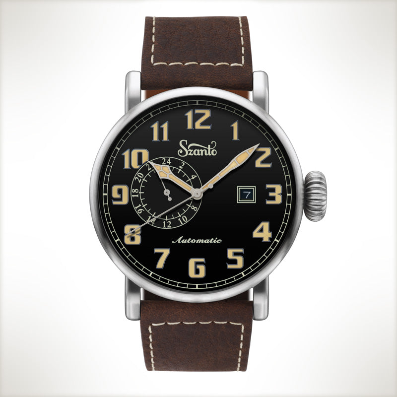 Szanto Automatic Big Aviator 6106, vintage style watch
