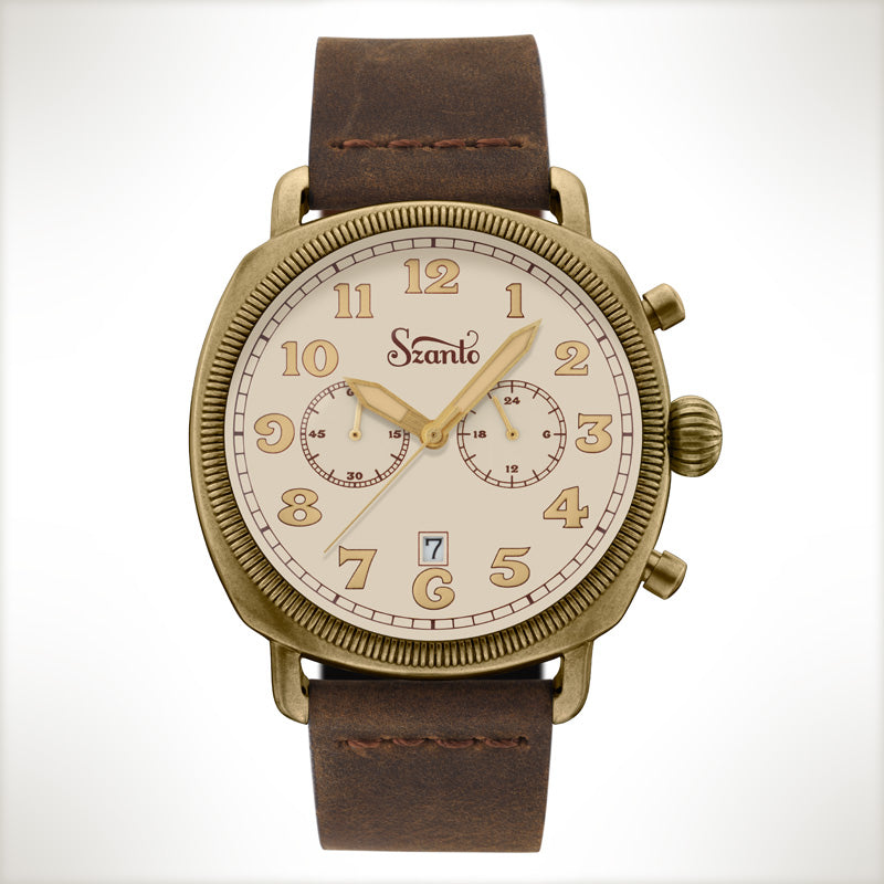 Szanto Coin Cushion 7014, vintage style watch