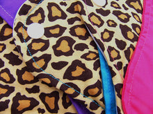 "Leopard Print Set of 3 Heavy Femeko Cloth Menstrual Pads - 8"", 9"" or 10"" Pads"