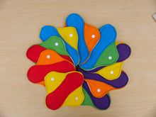 "Rainbow Set of 9 Light, Medium and Heavy Femeko Cloth Menstrual Pads - 8"", 9"" or 10"" Pads"