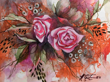 "small painting titled ""Gypsy Rose"" by Anne Marie Talon"