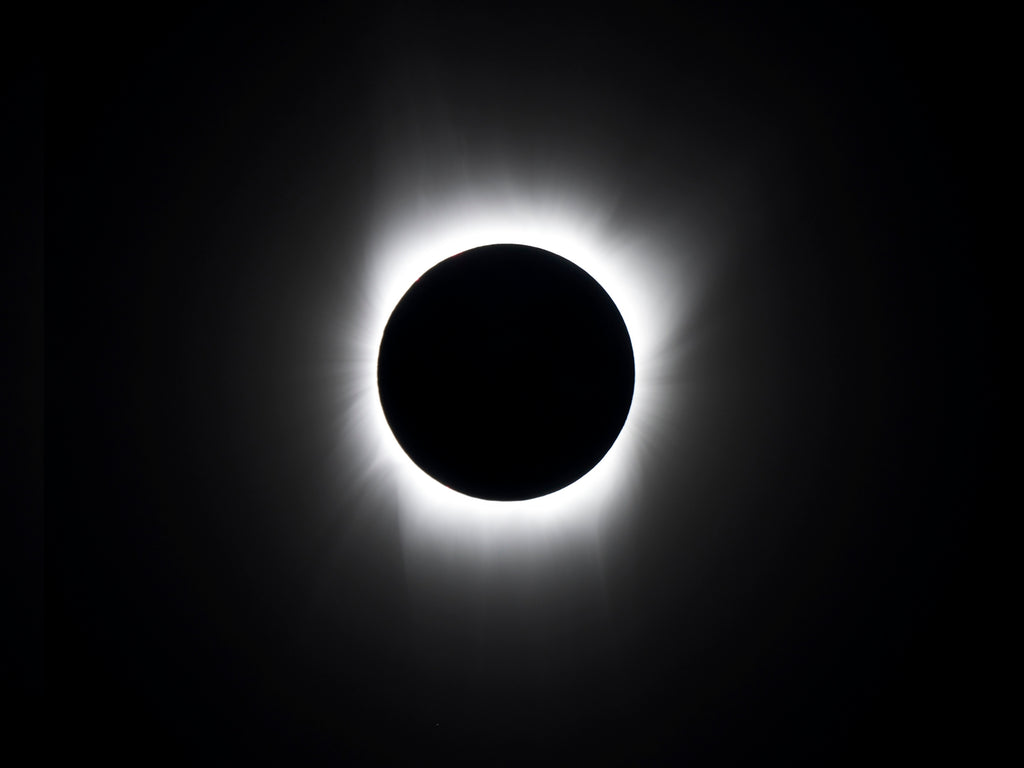 Black and white total solar eclipse 2017