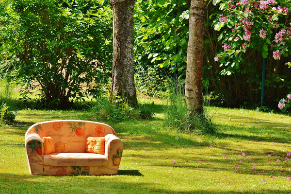 Sofa on the lawn