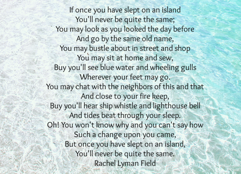 If once you slept on an island by Rachel Lyman Field