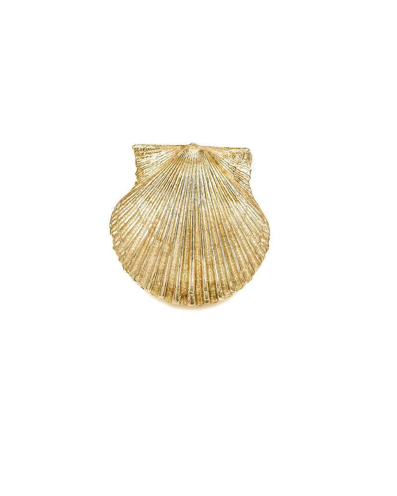 Scallop Shell Pendant in 14 K