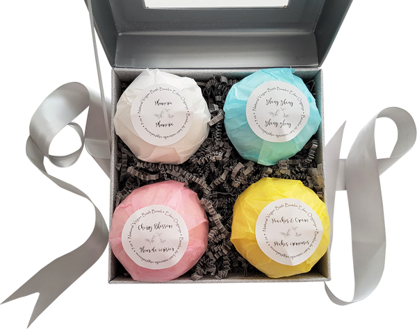 Bath Bombs, 4 in a Set - Eden Organyx Skincare