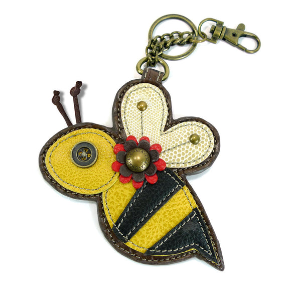 Attachable Bee Coin Purse and Key Fob