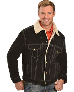 Men's Sherpa Lined Suede Leather Jacket