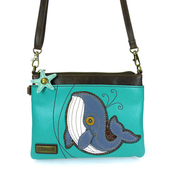 Convertible Blue Whale Crossbody with Starfish Zipper Pull Charm