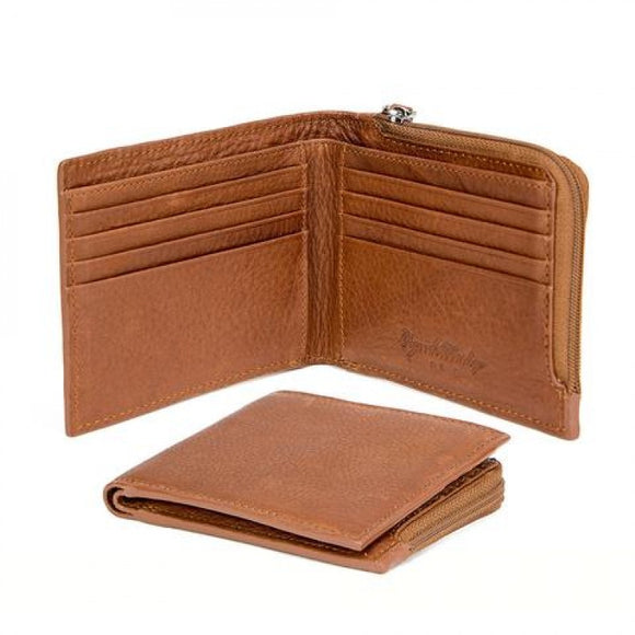 Osgoode Marley Men's Zip Pocket Leather Wallet
