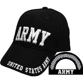 United States Army Black and  White Cap