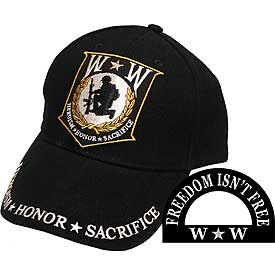 Wounded Warrior -Heroism, Honor, Sacrifice Cap